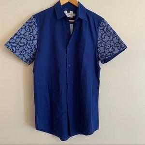 NWT TOPMAN Short Sleeve Button Up Shirt w/Pocket